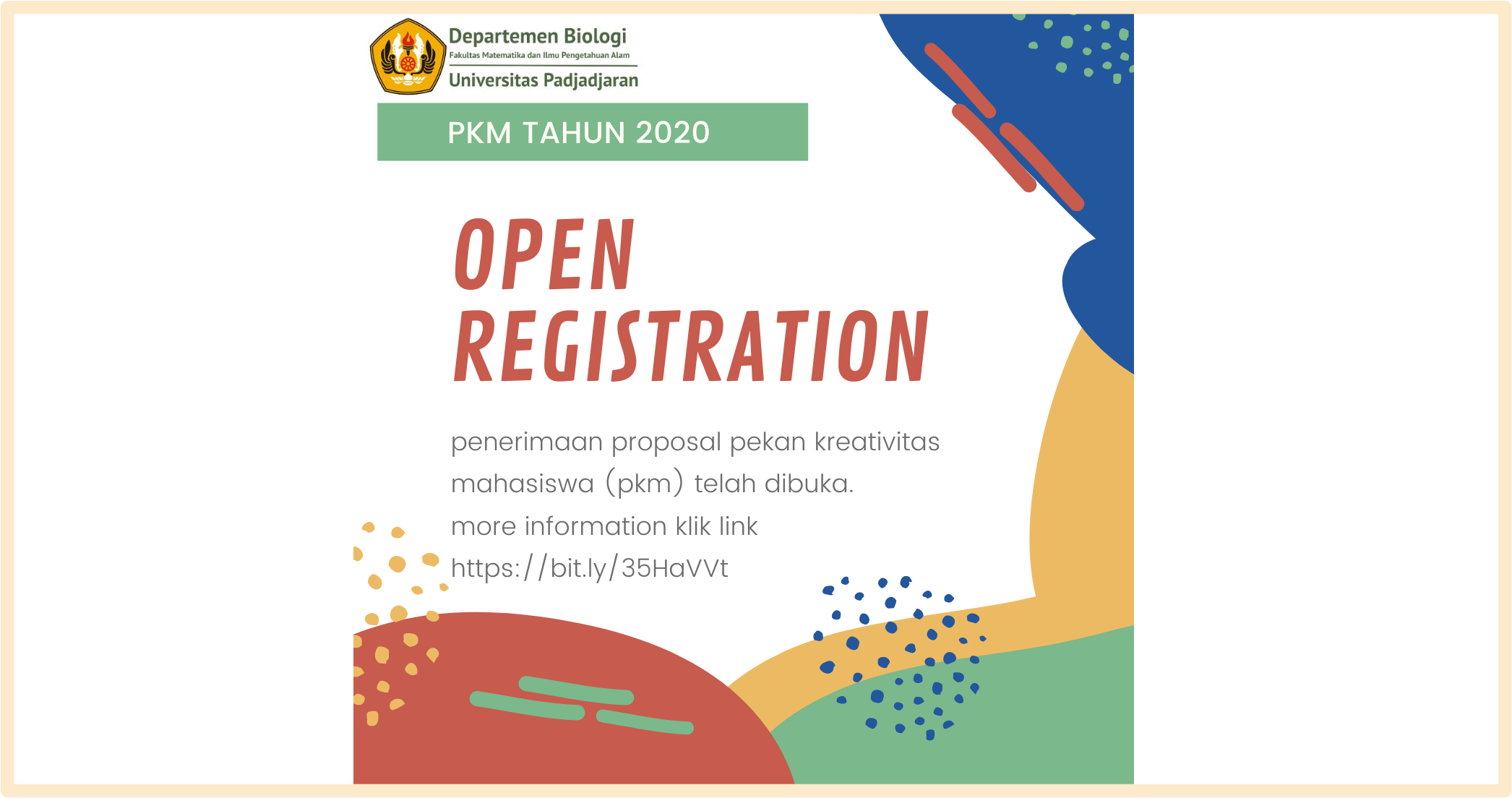 OPEN REGISTRATION PKM 2020