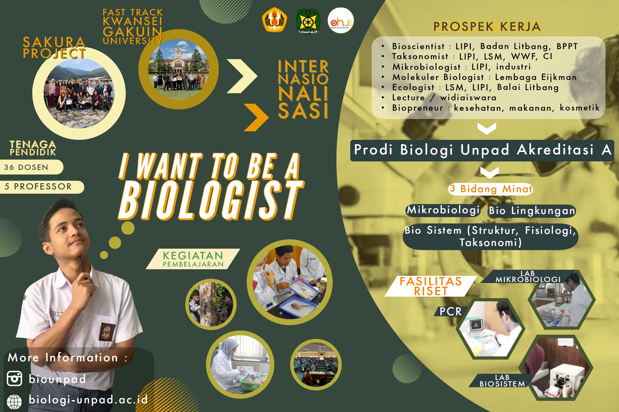 Biologi Hadir di Stand No. 19, Open House Unpad 2020