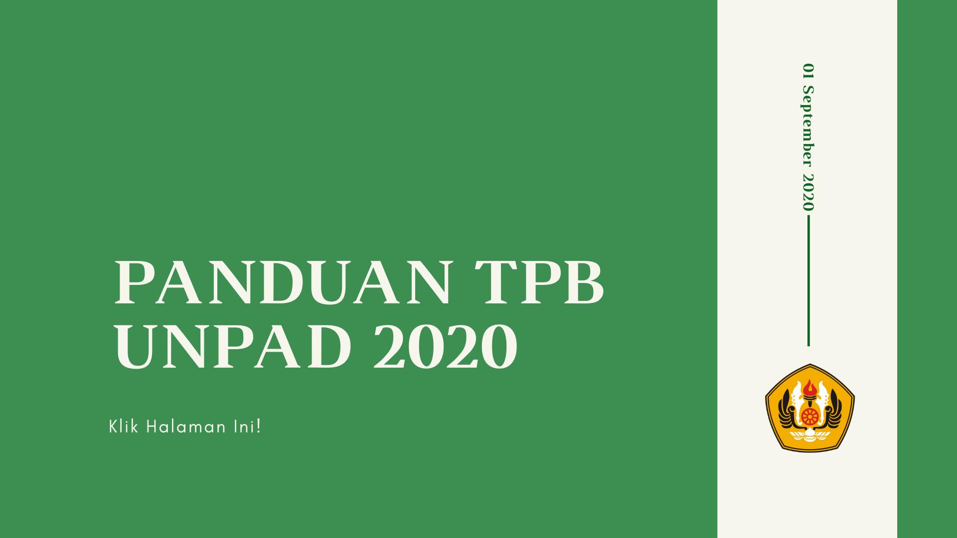 Panduan TPB Unpad 2020