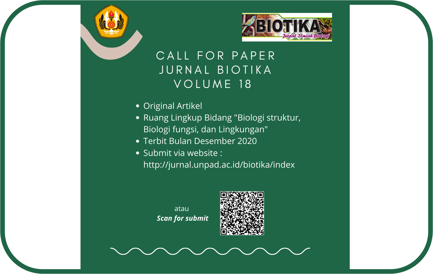 Call For Paper Jurnal Biotika Unpad